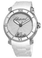 Chopard Happy Sport Round 42mm 5 Floating Diamond Rubber Strap Women's Watch 288525-3002