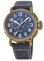 Zenith Pilot Type 20 Chronograph Extra Special Bronze Case Blue Dial Men's Watch 29.2430.4069/57.C808
