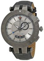 Versace V-Race  Grey Dial Leather Strap Men's Watch 29G98D535S009