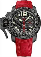 Graham Chronofighter Superlight Black Carbon Red Rubber Men's Watch 2CCBK.B11A.K95K