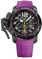 Graham Chronofighter Superlight Black Carbon Purple Rubber Men's Watch 2CCBK.V01A.K21B