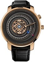 Graham Geo.Graham Orrery Tourbillon Limited Edition Black Dial Black Leather Strap Men's Watch 2GGBP.B01A