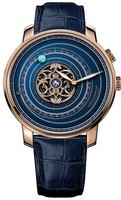 Graham Geo.Graham Orrery Tourbillon Limited Edition Blue Dial Blue Leather Strap Men's Watch 2GGBP.U01A