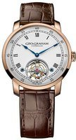 Graham Geo.Graham Tourbillon Limited Edition White Dial Black Leather Strap Men's Watch 2GGCP.W01A