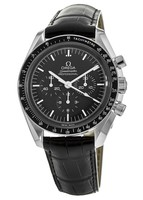 Omega Speedmaster Professional Moonwatch 42mm Black Chronograph Leather Strap Men's Watch 311.33.42.30.01.001