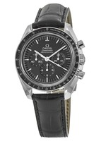 Omega Speedmaster Professional Moonwatch Black Chronograph Leather Strap Men's Watch 311.33.42.30.01.002