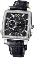 Ulysse Nardin Quadrato Dual Time Perpetual  Men's Watch 320-90B/92