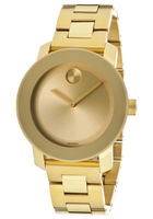 Movado Bold  Yellow Gold Tone Unisex Watch 3600085