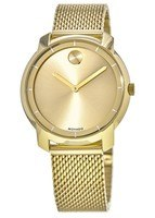 Movado Bold  Mesh Yellow Gold Toned Bracelet Women's Watch 3600242