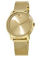 Movado Bold  Mesh Yellow Gold Toned Bracelet Women's Watch 3600242-PO
