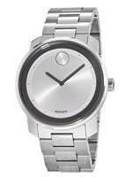 Movado Bold  Silver Dial Stainless Steel 43mm Men's Watch 3600257