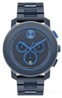 Movado Bold  Chronograph 43.5mm Navy TR90 Men's Watch 3600270