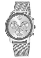 Movado Bold  44mm Chronograph Steel Mesh Band Men's Watch 3600371
