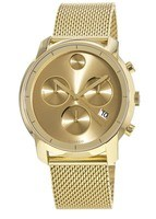 Movado Bold  Yellow-Gold Plated Chronograph Men's Watch 3600372