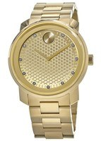 Movado Bold  43mm Yellow gold ion-plated stainless Steel. Men's Watch 3600374