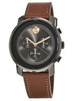 Movado Bold  Swiss Chronograph Cognac Leather Strap Men's Watch 3600421