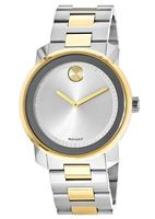 Movado Bold  Silver Dial Steel & Gold Men's Watch 3600431-SD