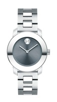 Movado Bold  Blue Dial Stainless Steel Women's Watch 3600436