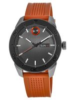 Movado Bold  Black Dial Orange Rubber Men's Watch 3600453