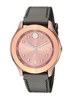 Movado Bold  Rose Gold Dial Silicone Strap Women's Watch 3600458