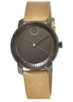 Movado Bold  Grey Dial Beige Leather Men's Watch 3600487