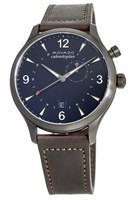Movado Heritage Calendoplan Brown GMT 43mm Leather Strap Men's Watch 3650017