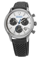 Movado Heritage Calendoplan Chronograph Leather Strap Men's Watch 3650024