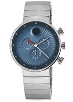 Movado Edge  Blue Dial Stainless Steel Men's Watch 3680010