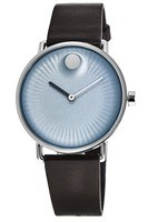 Movado Edge  Blue Dial Brown Leather Men's Watch 3680040