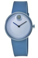 Movado Edge  Light Blue Dial Blue Silicone Strap Men's Watch 3680042