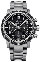 Breguet Type XXI Transatlantique Flyback Chronograph Black Dial Titanium Men's Watch 3810TI/H2/TZ9