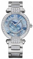 Chopard Imperiale Automatic 36mm Blue Mother of Pearl Diamond Women's Watch 384242-1007