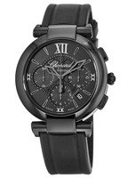 Chopard Imperiale Automatic 40mm Black Dial Black Rubber Men's Watch 388549-3007