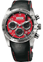 Tudor Fastrider Chronograph Red Dial Men's Watch 42000D-LTHR/RED ARAB