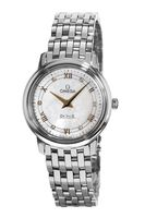Omega De Ville Quartz 27.4mm Mother of Pearl Steel Women's Watch 424.10.27.60.55.001