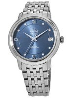 Omega De Ville Prestige Co-Axial 32.7mm Blue Diamond Dial Automatic Steel Women's Watch 424.10.33.20.53.001
