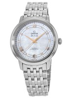 Omega De Ville Prestige Co-Axial 32.7 Mother of Pearl Diamond Dial Steel Women's Watch 424.10.33.20.55.002