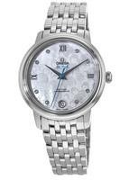Omega De Ville Prestige Co-Axial 32.7mm Mother of Pearl Diamond Dial Orbis Women's Watch 424.10.33.20.55.004
