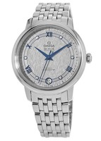 Omega De Ville Prestige Co-Axial 32.7mm Grey Patterned Diamond Dial Steel Women's Watch 424.10.33.20.56.002