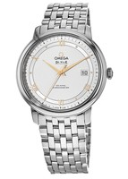 Omega De Ville Prestige Co-Axial 39.5mm Chronometer Silver Dial Steel Men's Watch 424.10.40.20.02.002