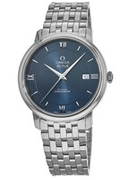 Omega De Ville Prestige Co-Axial 39.5mm Blue Dial Stainless Steel Men's Watch 424.10.40.20.03.001