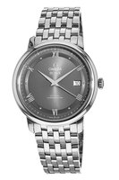 Omega De Ville Prestige Co-Axial 39.5mm Automatic Grey Railroad Dial Steel Men's Watch 424.10.40.20.06.001