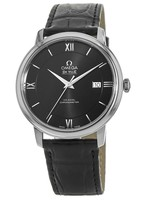 Omega De Ville Prestige Co-Axial 39.5mm Automatic Black Dial Leather Strap Men's Watch 424.13.40.20.01.001