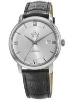 Omega De Ville Prestige Co-Axial 39.5mm Automatic Silver Dial Leather Strap Men's Watch 424.13.40.20.02.001