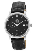 Omega De Ville Prestige Co-Axial Chronograph Automatic Black Dial Leather Strap Men's Watch 424.13.40.21.01.001