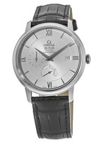 Omega De Ville Prestige Co-Axial Chronograph Automatic Silver Dial Leather Strap Men's Watch 424.13.40.21.02.001