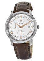Omega De Ville Prestige Co-Axial Chronograph Automatic White Dial Leather Strap Men's Watch 424.13.40.21.02.002