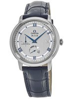 Omega De Ville Prestige Co-Axial Chronograph Automatic Silver Dial Leather Strap Men's Watch 424.13.40.21.02.003