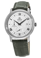 Omega De Ville Prestige Co-Axial Chronograph Silver Dial Brown Leather Strap Men's Watch 424.13.40.21.02.004