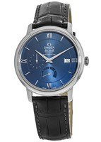 Omega De Ville Prestige Co-Axial Chronograph Automatic Blue Dial Leather Strap Men's Watch 424.13.40.21.03.001